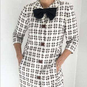 Exquisite Vintage 60s Mod Coat Dress